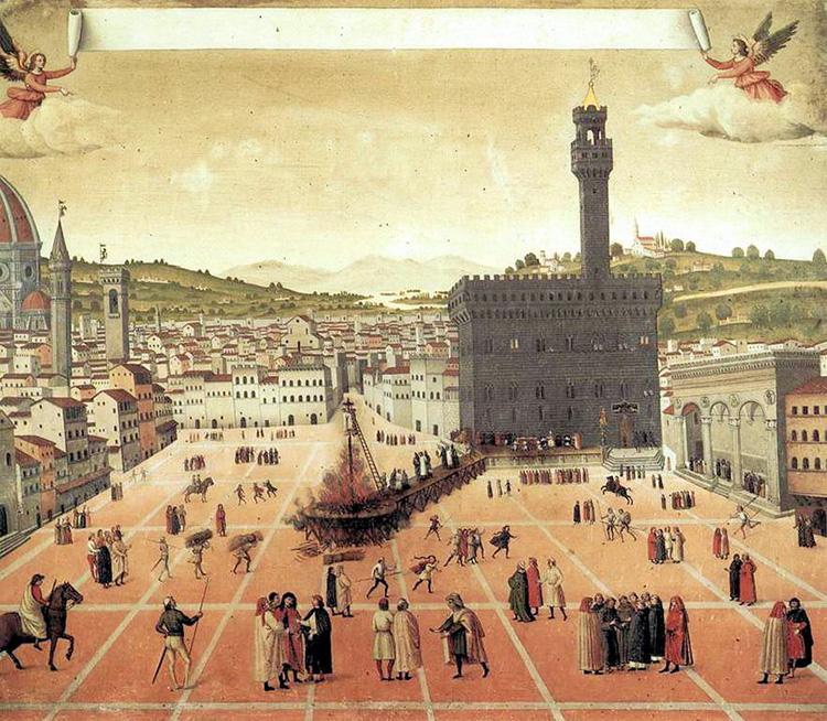 savonarola medici florence burning heresy pope alexander vi