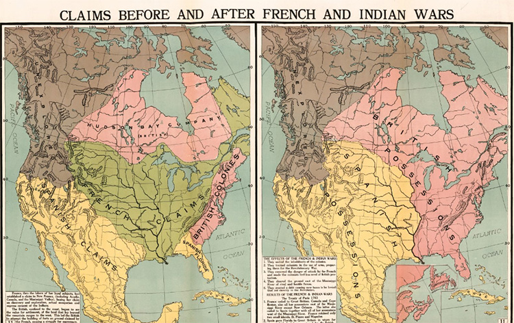 Map of North America Before And After Seven Years War
