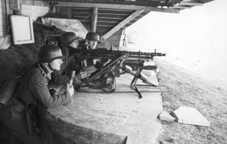 Dieppe Raid - attempted landing - German machine-gun position