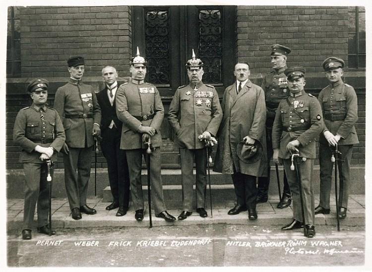Defendants in the Beer Hall Putsch trial