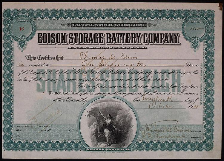 Thomas Edison Battery Company