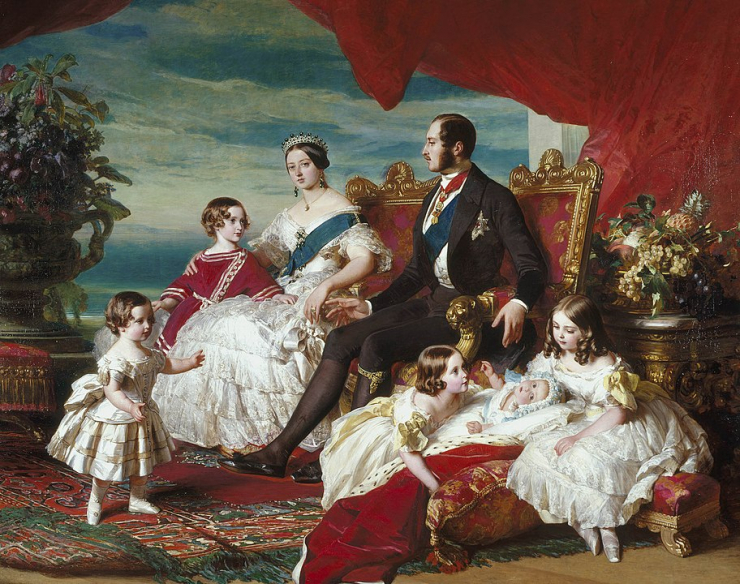Queen Victoria, Prince Albert and family.