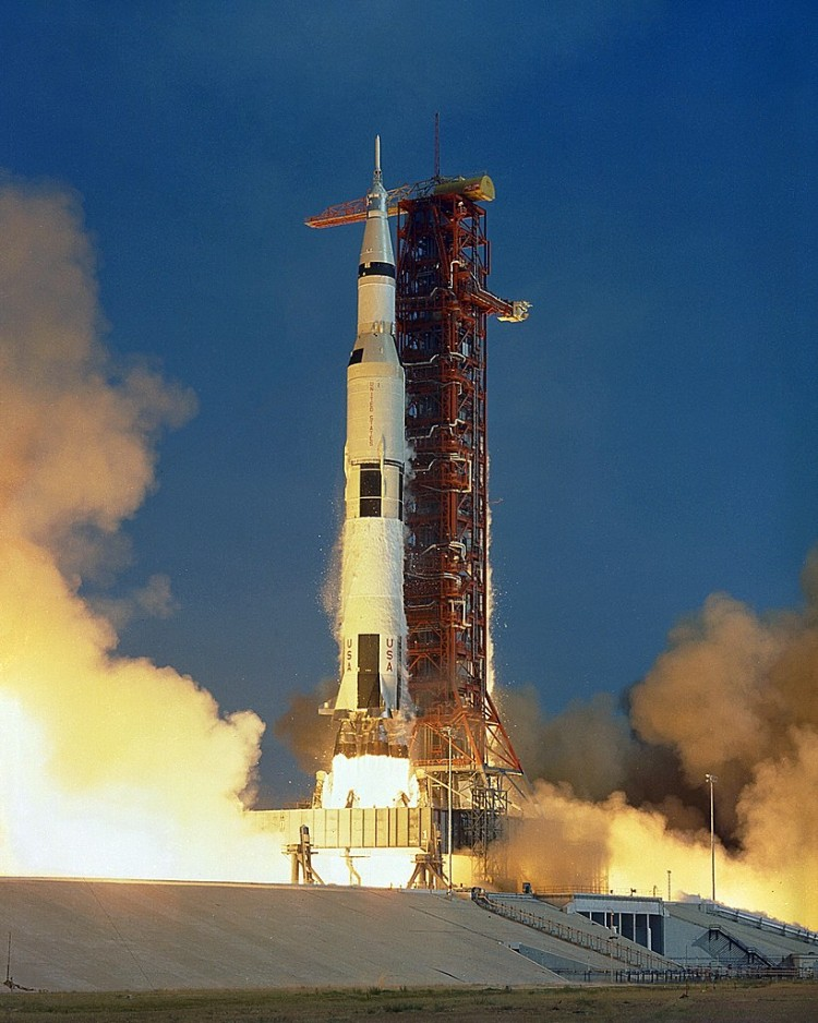 Apollo 11 Saturn V rocket lift off