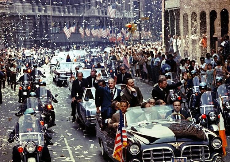 Apollo 11 ticker tape parade in New York 1969