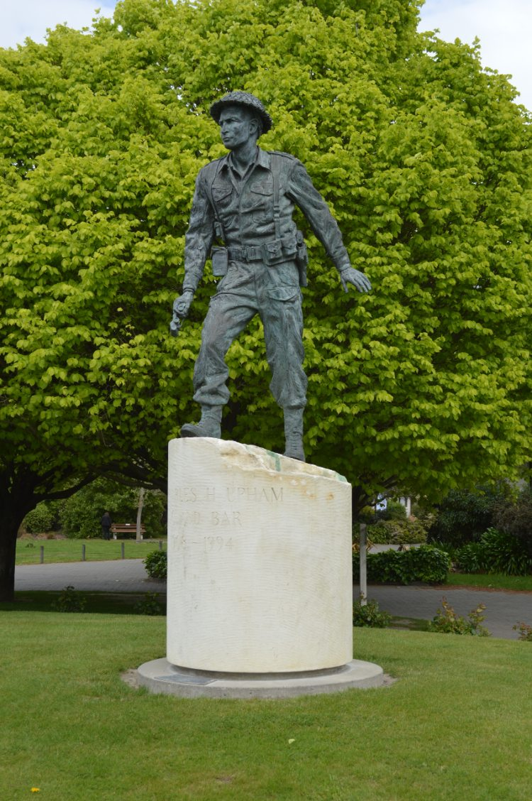 Charles Upham VC statue in Amberley