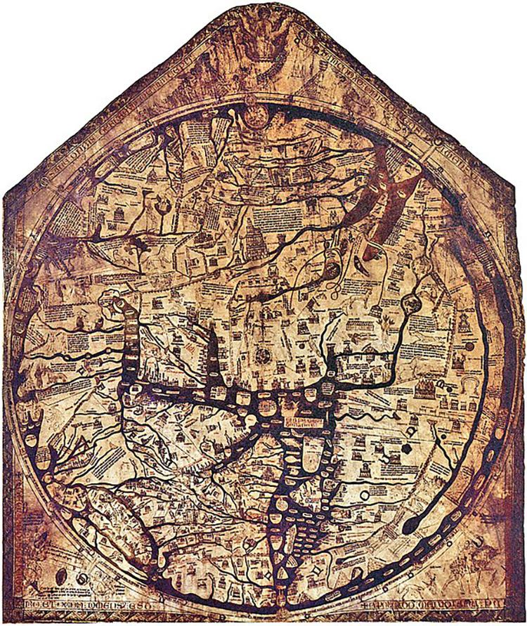 mappa mundi hereford cathedral medieval jerusalem