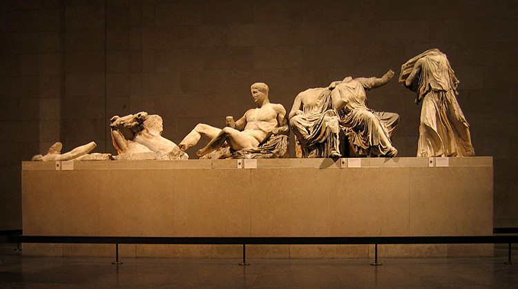 elgin parthenon marbles british museum east pediment