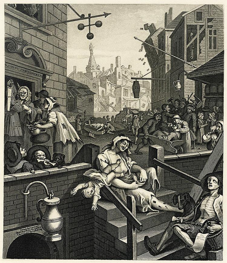 hogarth gin lane beer street