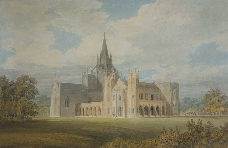 fonthill abbey william beckford watercolour romanticism turner