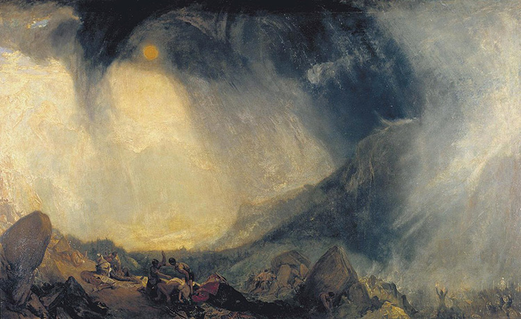 jmw turner snowstorm alps hannibal tate romanticism sublime painting