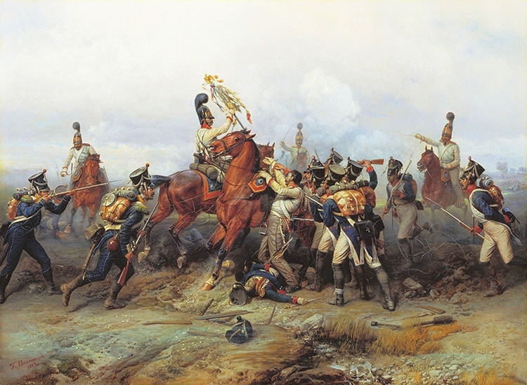 Russian Cavalry seizing of a French Imperial Eagle