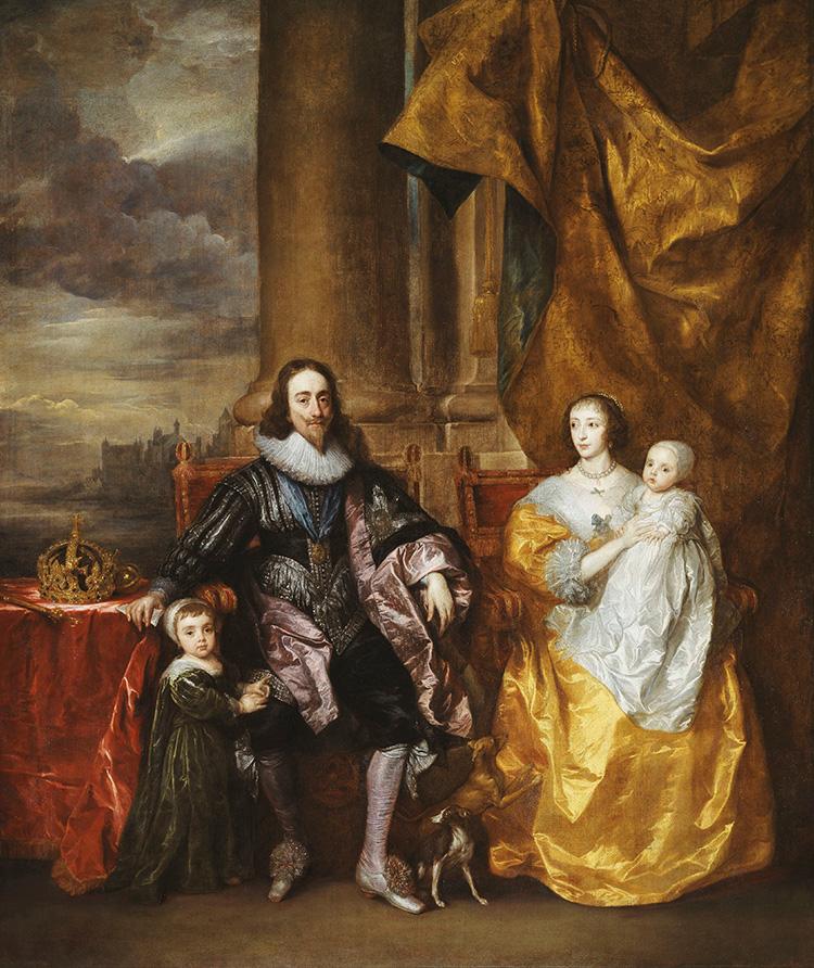 charles i henrietta maria children family van dyck