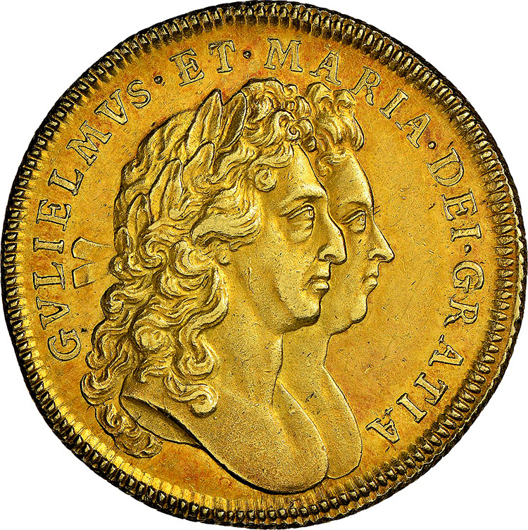 william mary 1693 coin