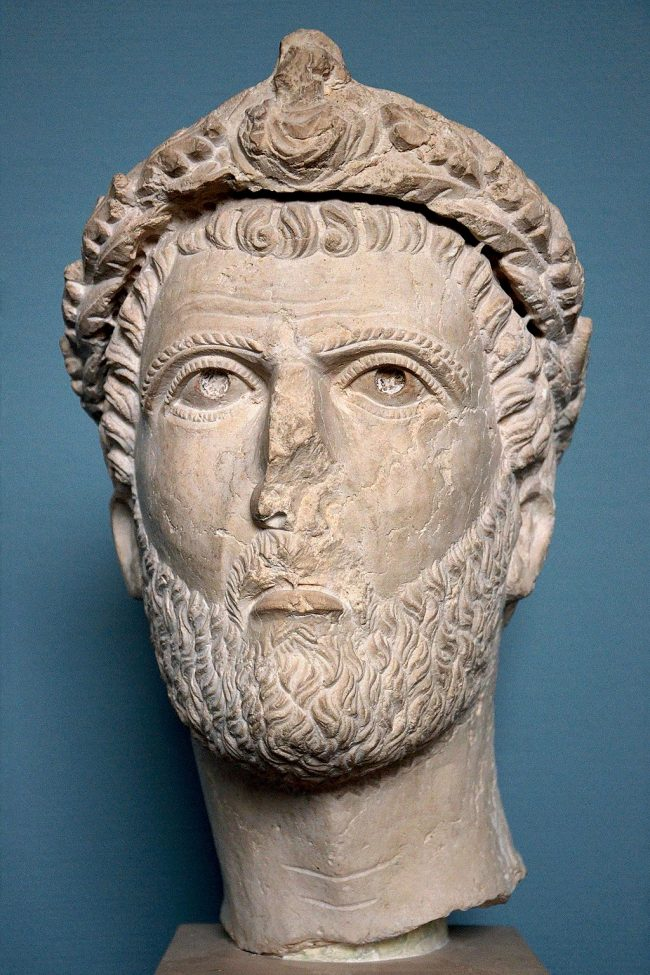 A bust of Odaenathus, dated to the 250s.