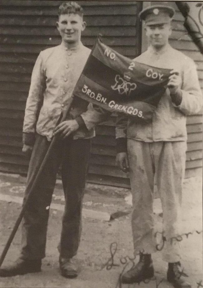 Guardsman Percy Nash, left, before the war. Image source: Dilip Sarkar Archive.