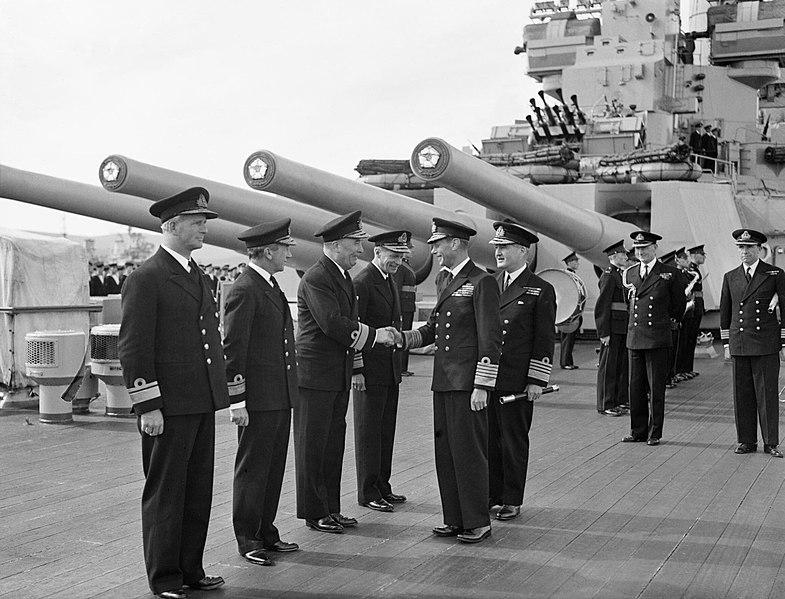 King George British sailors