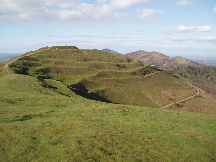 Hill fort at British Camp in the Malverns