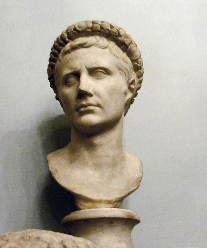 Bust of Ancient Roman Emperor Agustus as Octavian