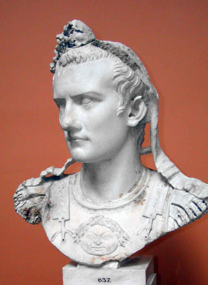 Bust of the Ancient Roman emperor Caligula