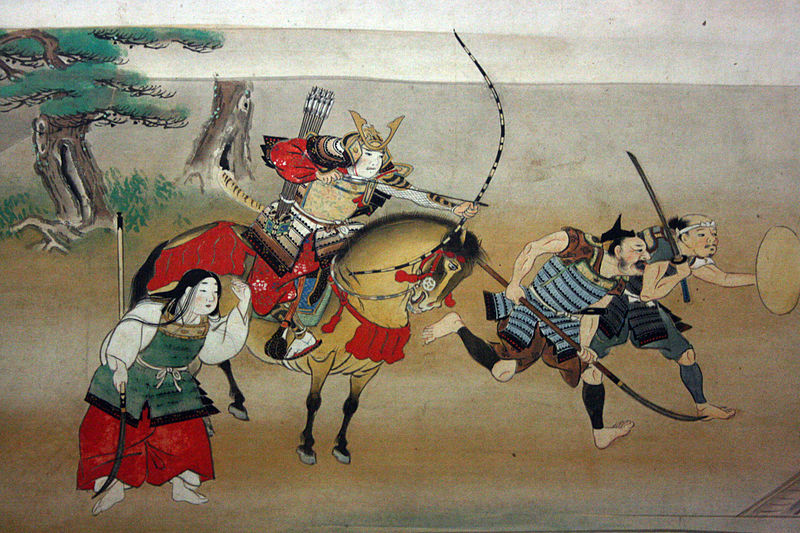 Japanese samurai with yumi