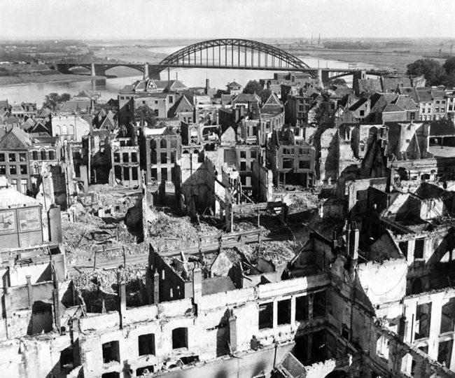 Nijmegen after the battle. 28 September 1944.