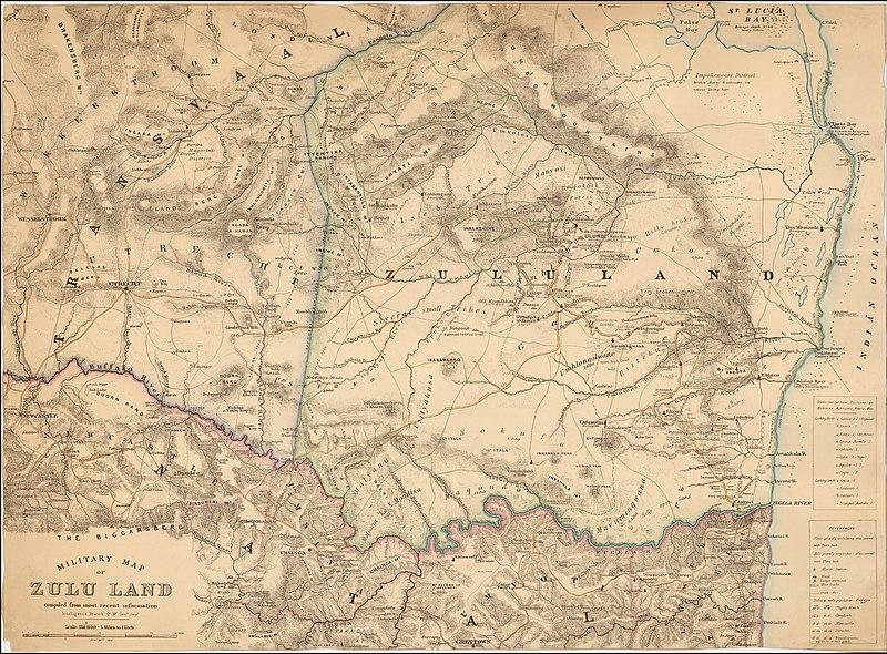 Military Map of Zulu Land