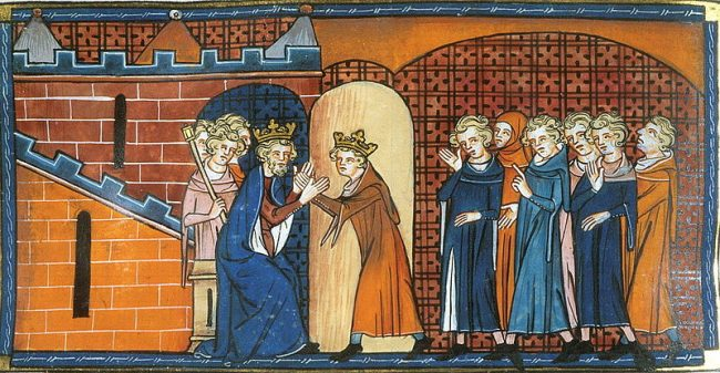 Arthur I of Brittany doing homage to Philip II August of France.
