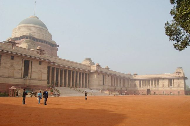 Rashtrapati Bhavan, formerly known as Viceroy's House.