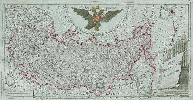 The Russian Empire in 1792.