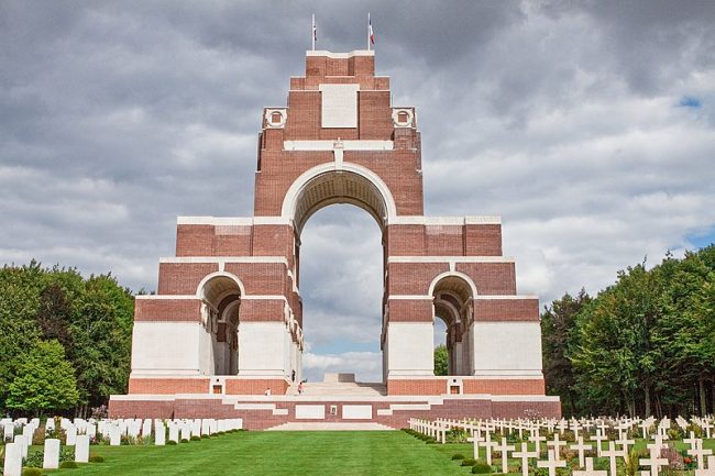 Thiepval Memorial to the Missing of the Somme, France. Image source: Wernervc / CC BY-SA 4.0.