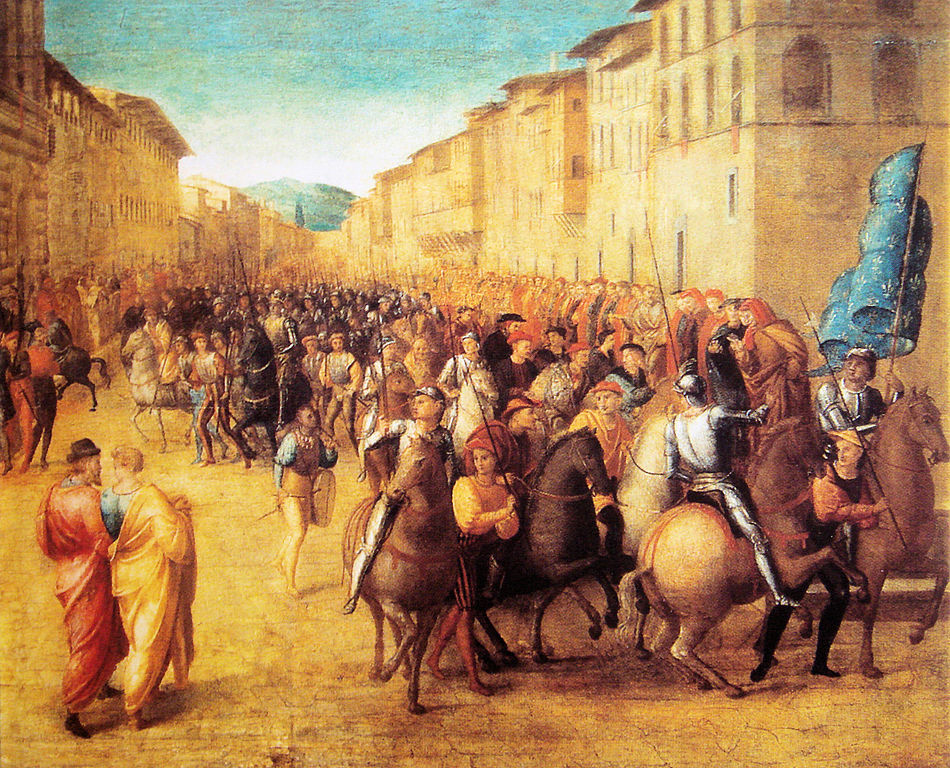 French troops under Charles VIII entering Florence