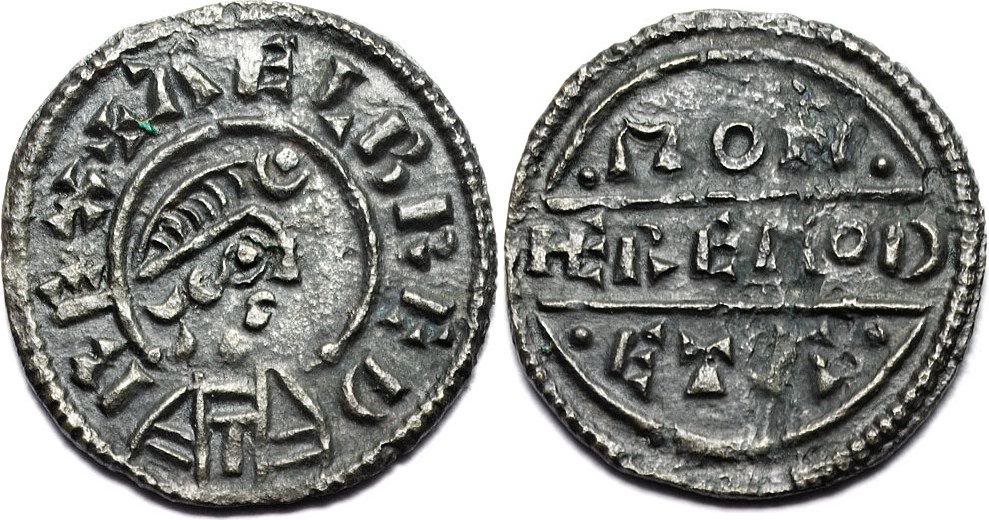 An example of the coinage minted during Alfred's reign. This particular coin was in circulation between 871-875 AD.