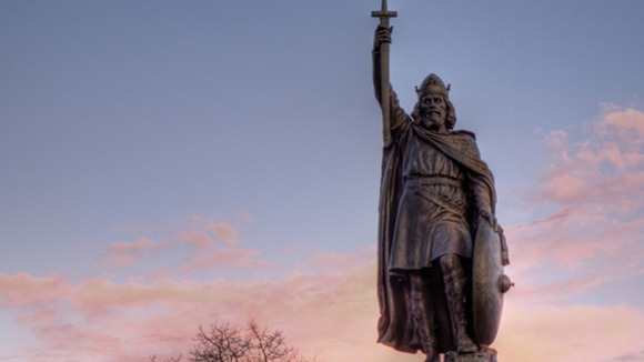 A statue of King Alfred at Winchester, the ancient capital of Wessex.