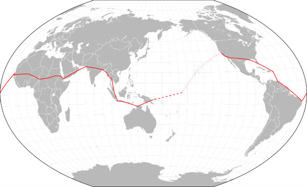 Amelia Earhart's Flight Route