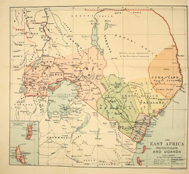 british east africa map