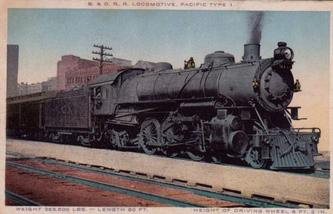 Baltimore & Ohio 4-6-2 locomotive.