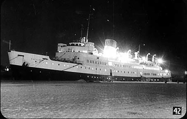 SS Falaise, the ship on which Burgess and Maclean fled in May 1951.