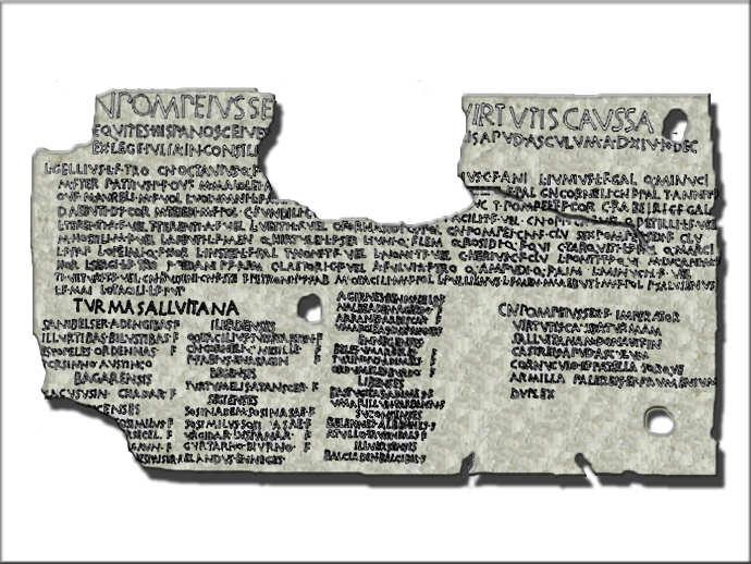 Ancient Roman citizen's papers
