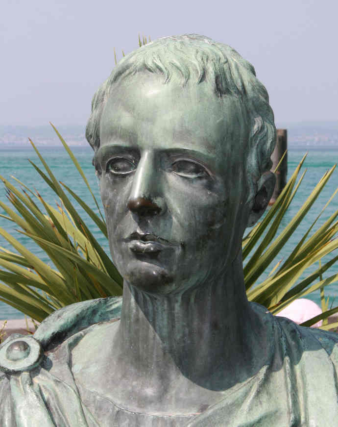 A bust of Catullus