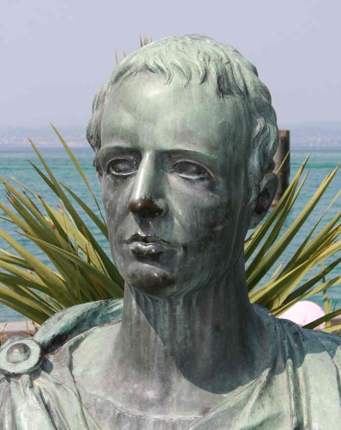 A bust of Catullus