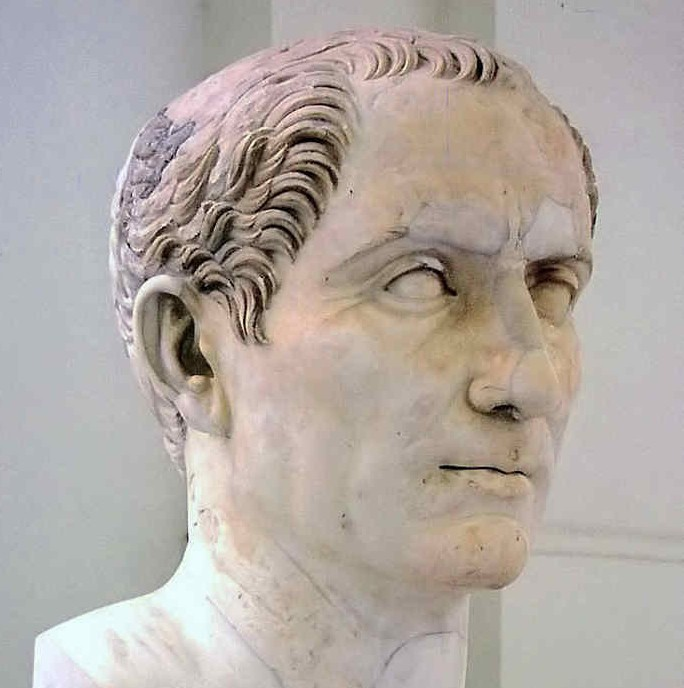 Bust of Julius Caesar, Ancient Roman ruler