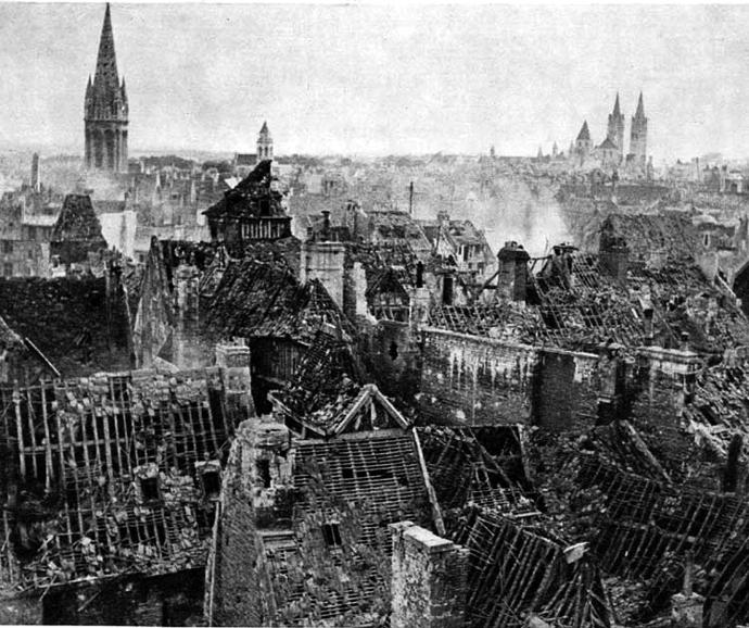 Caen_in_ruins