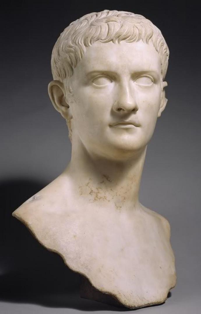 A bust of Caligula.