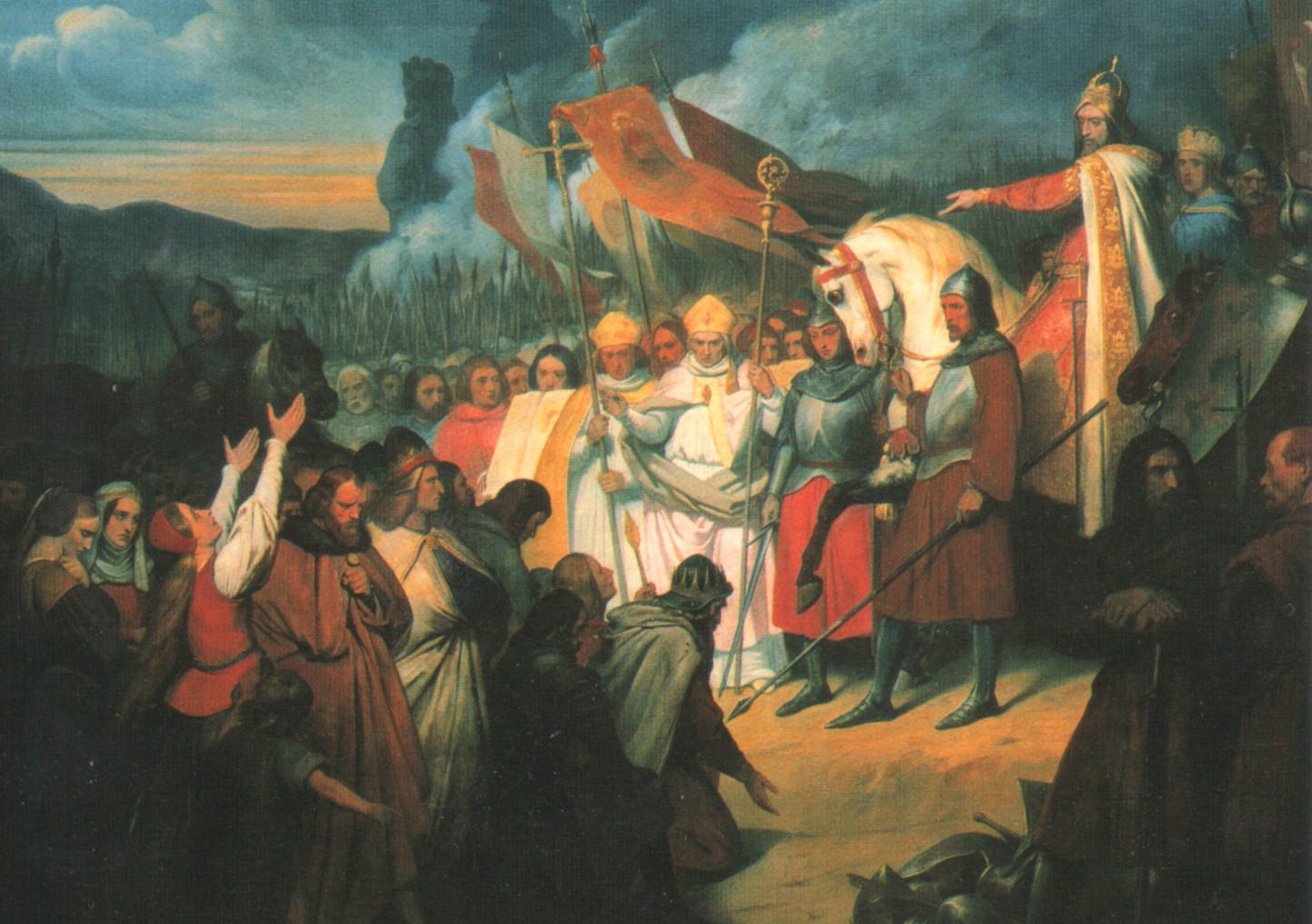 New subjects submit to the rule of Charlemagne and the Holy Roman Empire