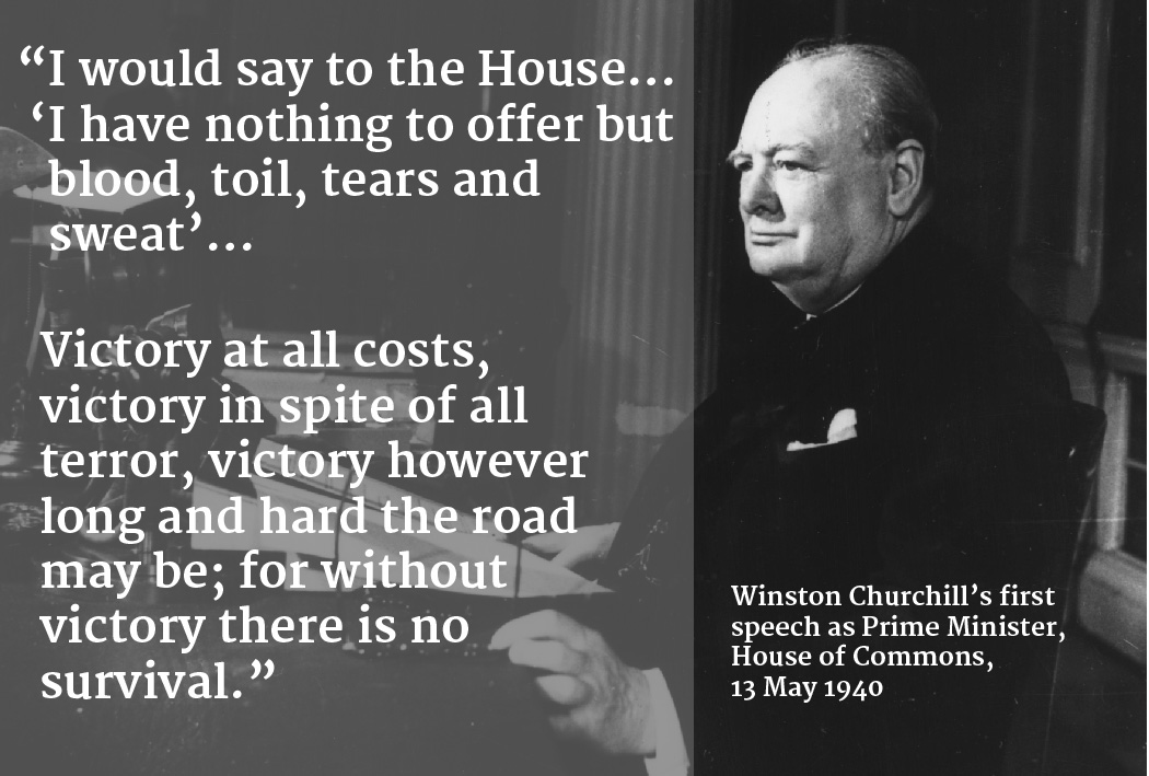 20 Key Quotes by Winston Churchill in World War Two – History Hit