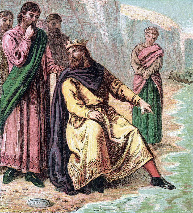 King Canute - Look and Learn History Picture Library