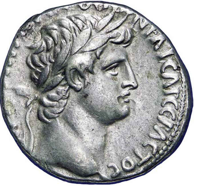 Ancient Roman coin showing Emperor Otho
