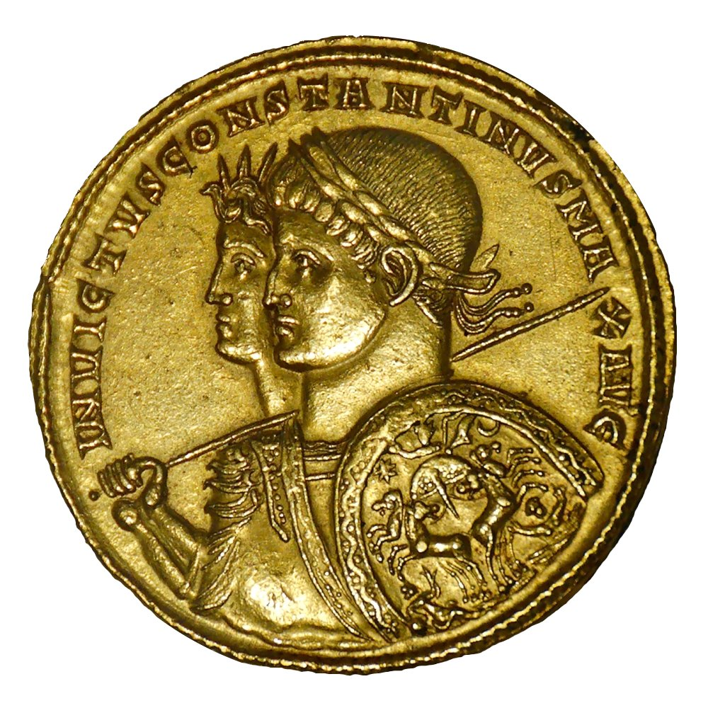 The coinage of Constantine's Empire. His economic policies were one of the reasons for the decline of the west and the sundering of the Empire.