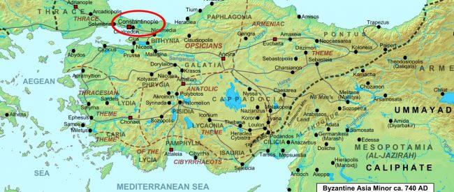 Constantinople map Asia Minor