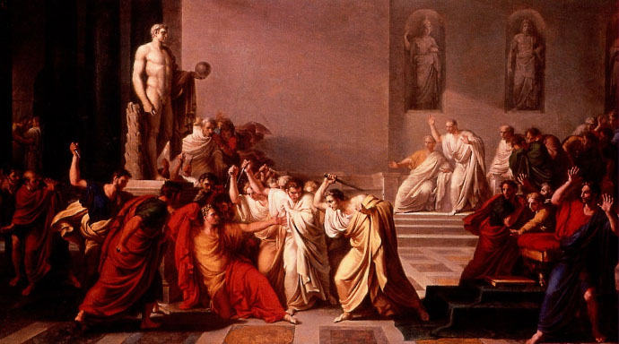 Death of Caesar by Vincenzo Camuccini.